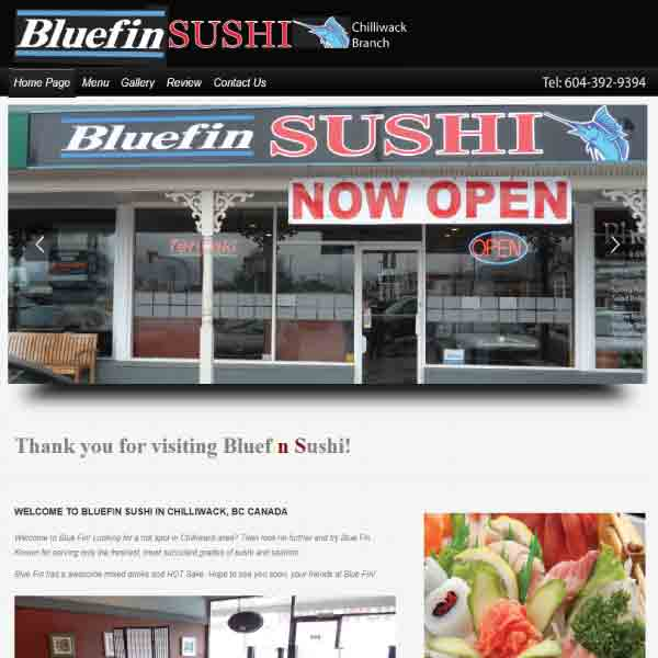 portfolio restaurant bluefin sushi. Black Bedroom Furniture Sets. Home Design Ideas